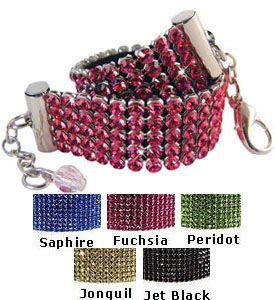 Dog Accessories Genuine Swarovski Rhinestone Pet Collar Necklaces 5 Rows