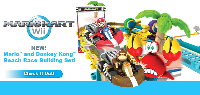 Mario and Donkey Kong Beach Race Set