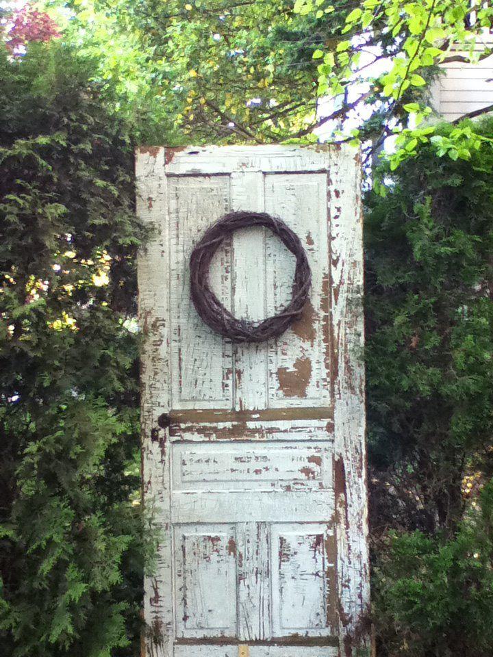 Our Door To Nowhere in the garden. | Stuff | Garden doors, Recycled Garden Door To Nowhere on
