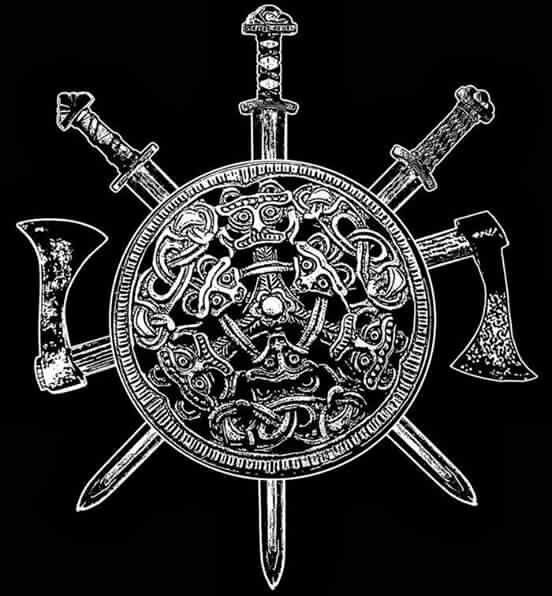 viking shield sword and axe tattoo ideas pinterest viking tattoos norse tattoo and tattoos. Black Bedroom Furniture Sets. Home Design Ideas