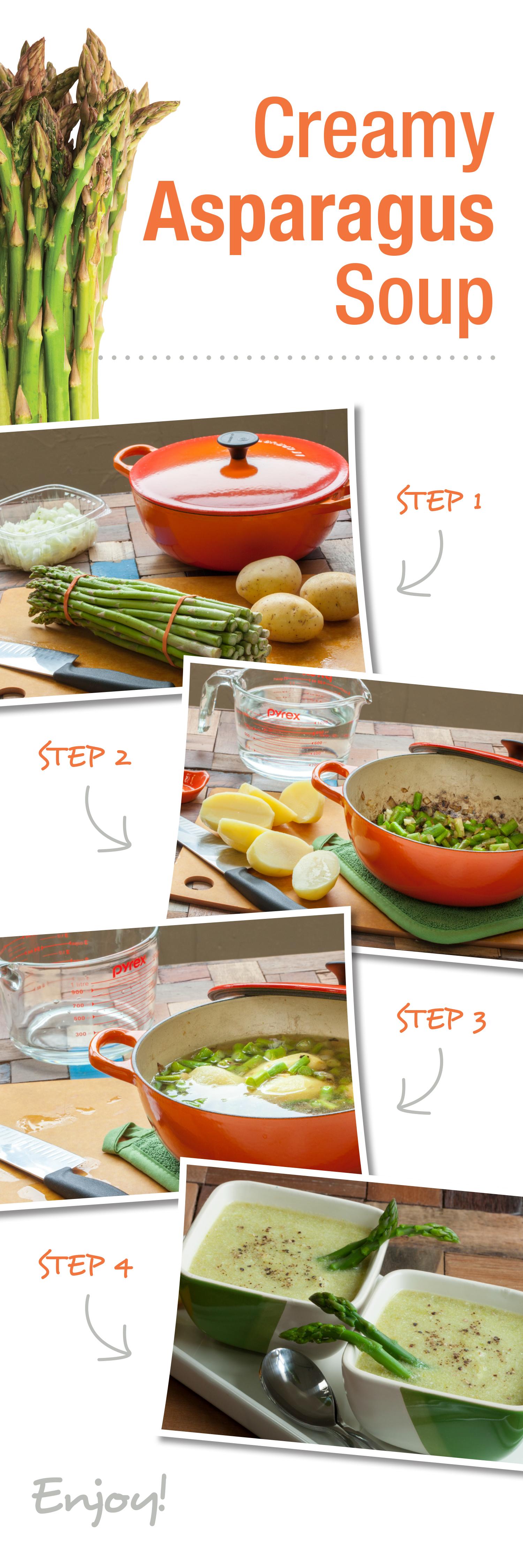 how to make creamed asparagus