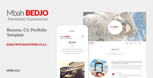 Bedjo - Resume, CV, Portfolio Template  Bedjo has features such as