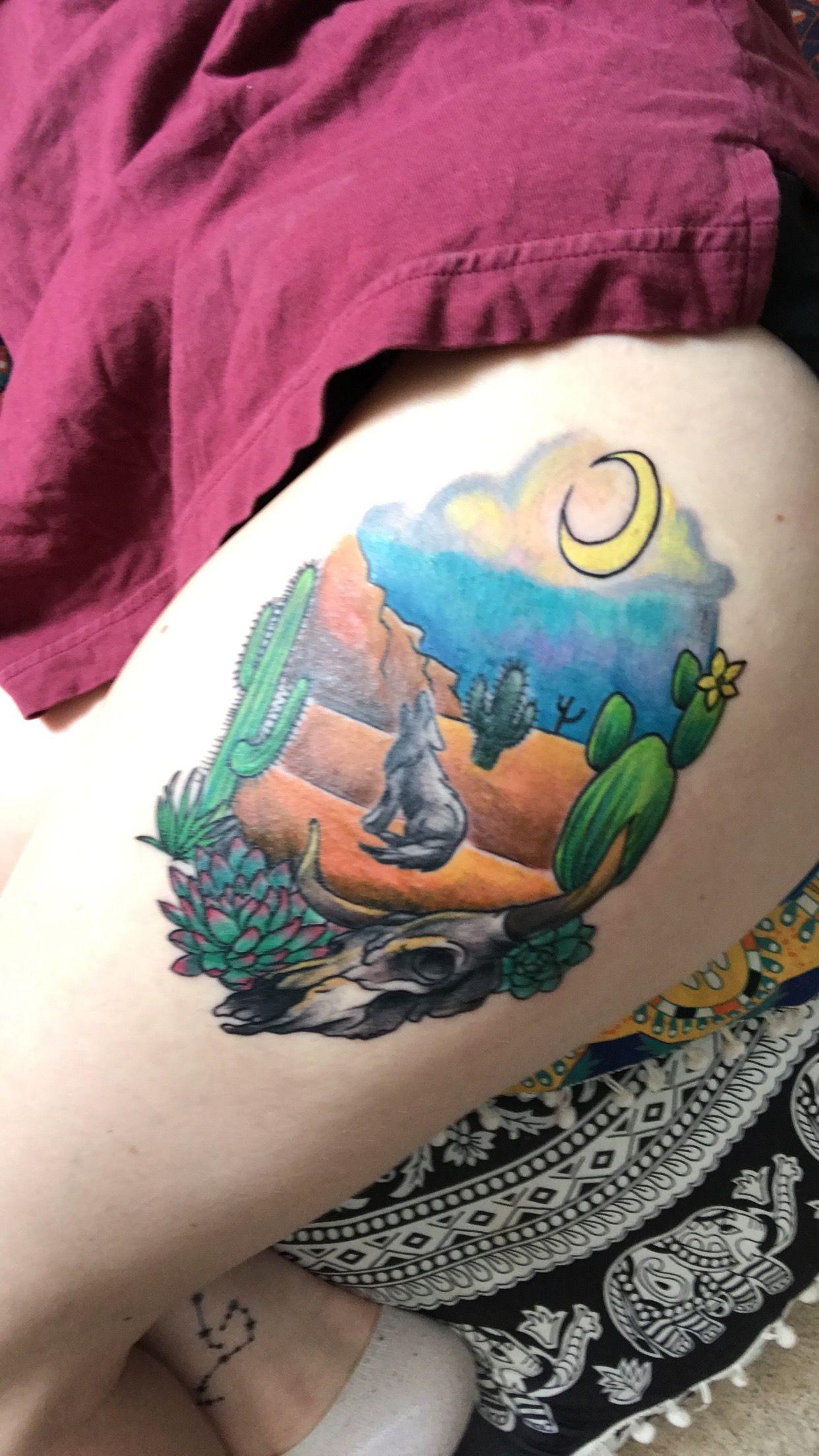Desert tattoo tattoos watercolor tattoo