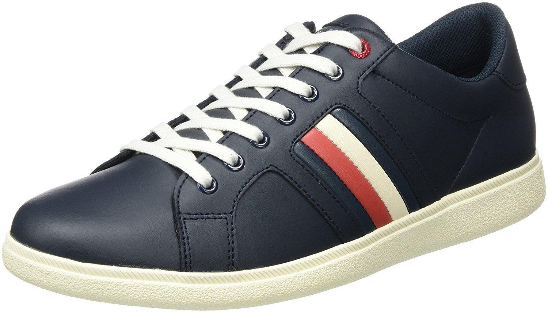 Tommy Hilfiger Herren D2285anny 2a Sneaker Blau Streifen Schnurschuhe Sneaker