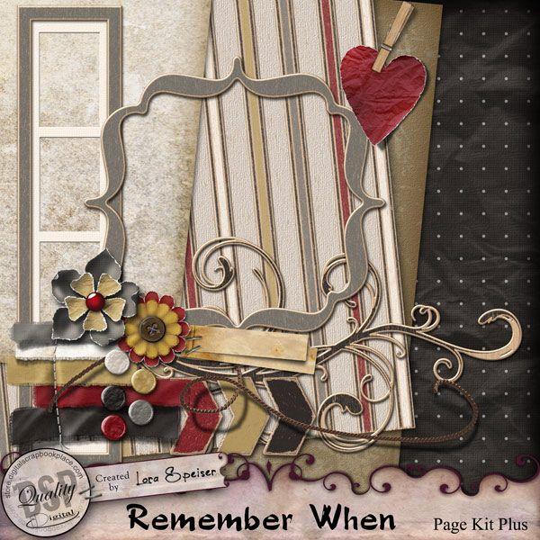 Remember When Page Kit Plus [DL-LS-KP-RememberWhen] - $4.99 : Digital Scrapbook Place, Inc. , High Quality Digital Scrapbook Graphics