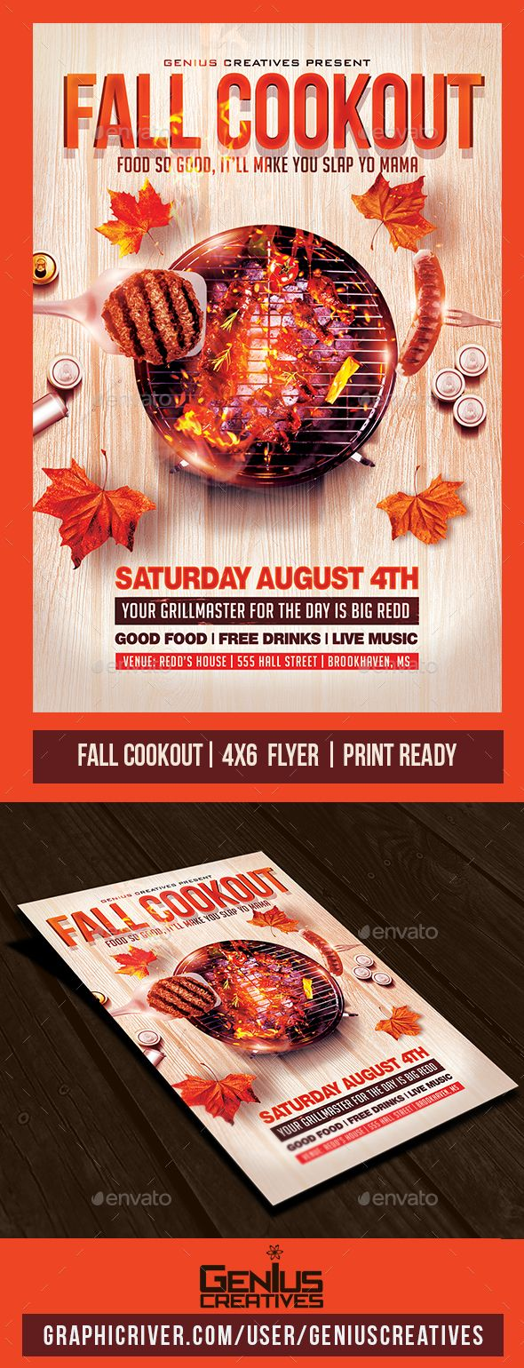 cook out flyers