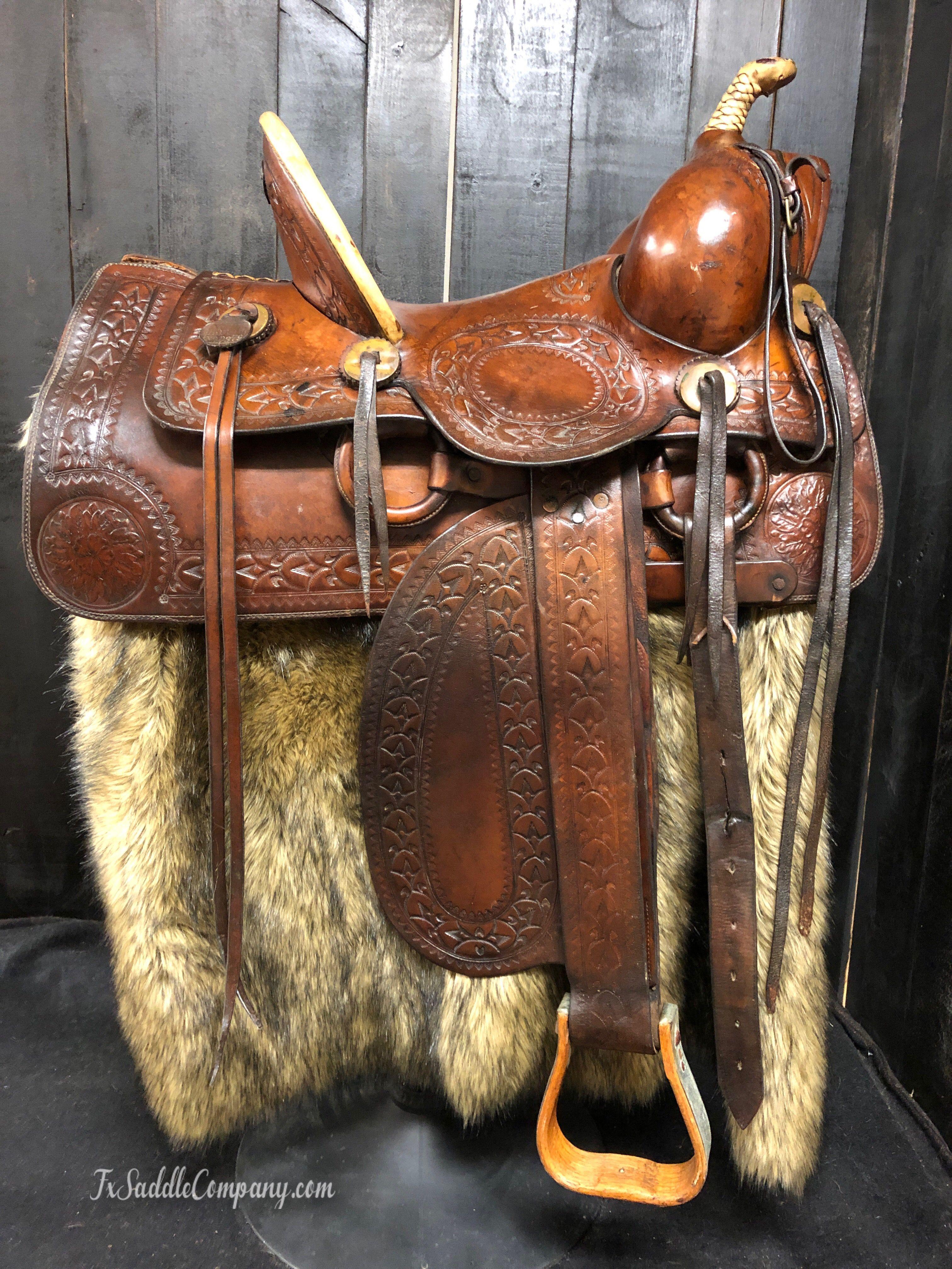 Antique Askew High Back Saddle | Vintage/Antique