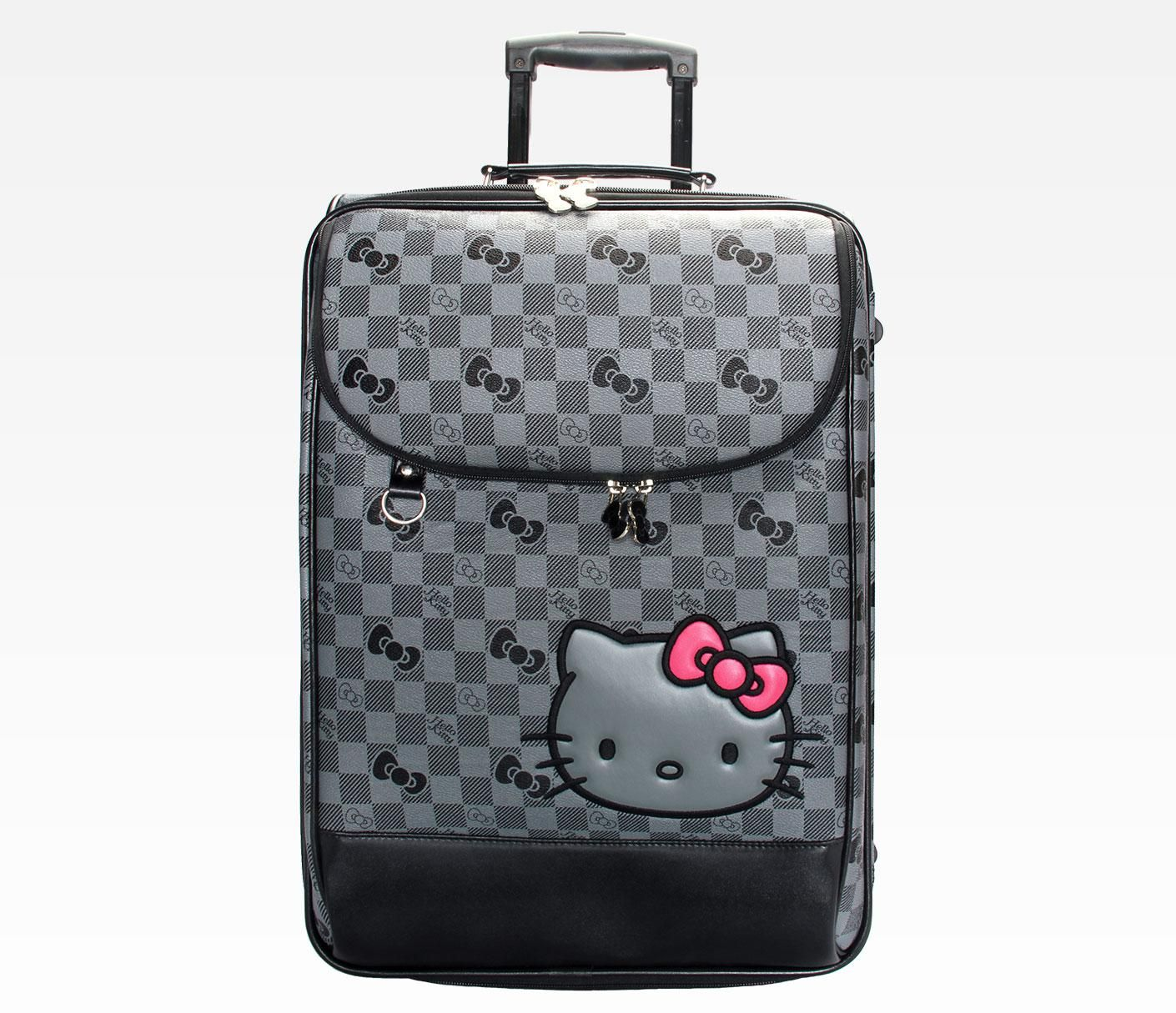 Hello Kitty Rolling Travel Case Grid Awsome Piece To Make