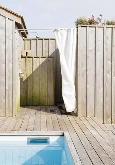 Outdoor Shower Curtain Ideas Diy Shower Curtain Outdoor Shower