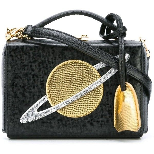 Mark Cross Planet Cut Out Clutch 2 125 Liked On Polyvore Featuring Bags Handbags Clutches Black Handbag Purse