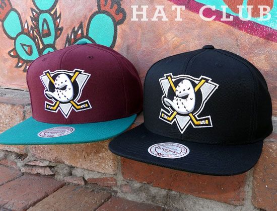 1f3131c9d1a MITCHELL   NESS Mighty Ducks Snapback Cap Collection   HAT CLUB ...