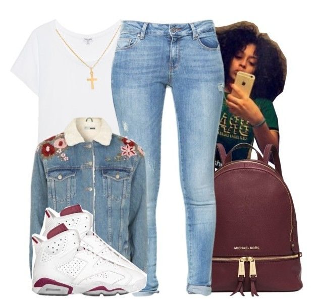 """""""Starboy ~ The Weeknd"""" by retrovintagepizza ❤ liked on Polyvore featuring Michael Kors, Splendid, Zara, Topshop, NIKE and Sterling Essentials"""