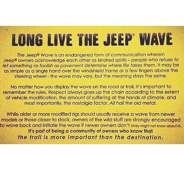 Pin By Shane Carder On Jeep And 4x4 Stuff Jeep Memes Jeep Wave