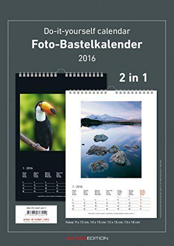 Foto-Bastelkalender 2016 - 2 in 1: schwarz und weiss - Bastelkalender: Do it yourself calendar A4 - datiert von Alpha Edition http://www.amazon.de/dp/3840768012/ref=cm_sw_r_pi_dp_DOkqwb0S86WBB