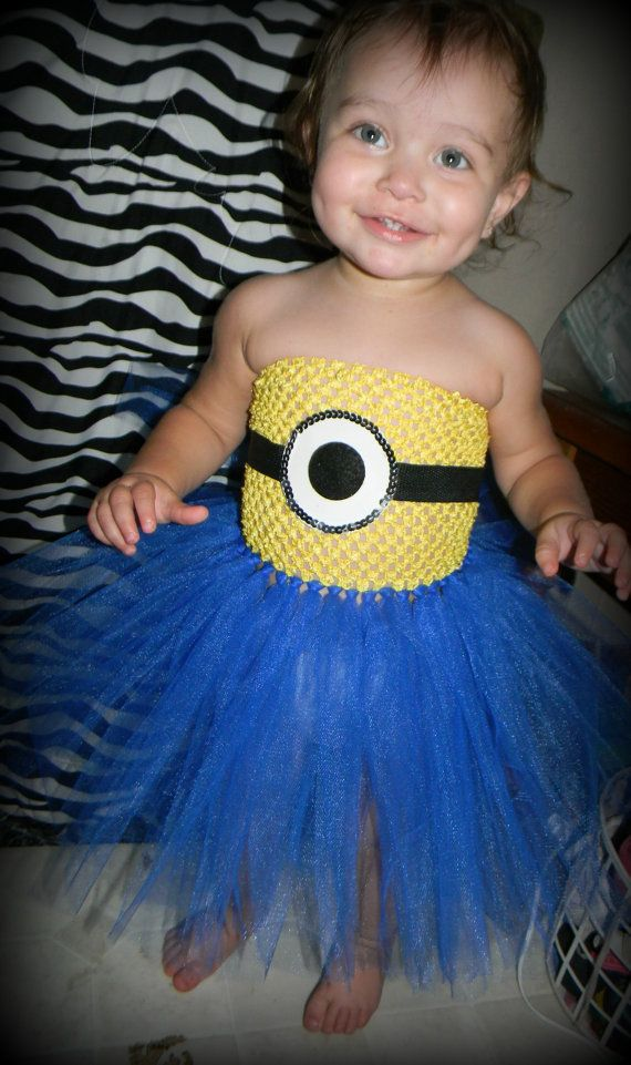 Baby Minion Tutu Dress on Etsy, $26.97 CAD my kids will be dressed like this! i'll be the coolest mum evcer