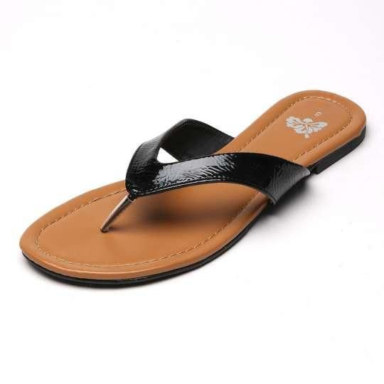 7bbc0fd7e Black Flat Thong Sandals - Hawaiianize your feet with these stylish and  confortable sandals. Whether