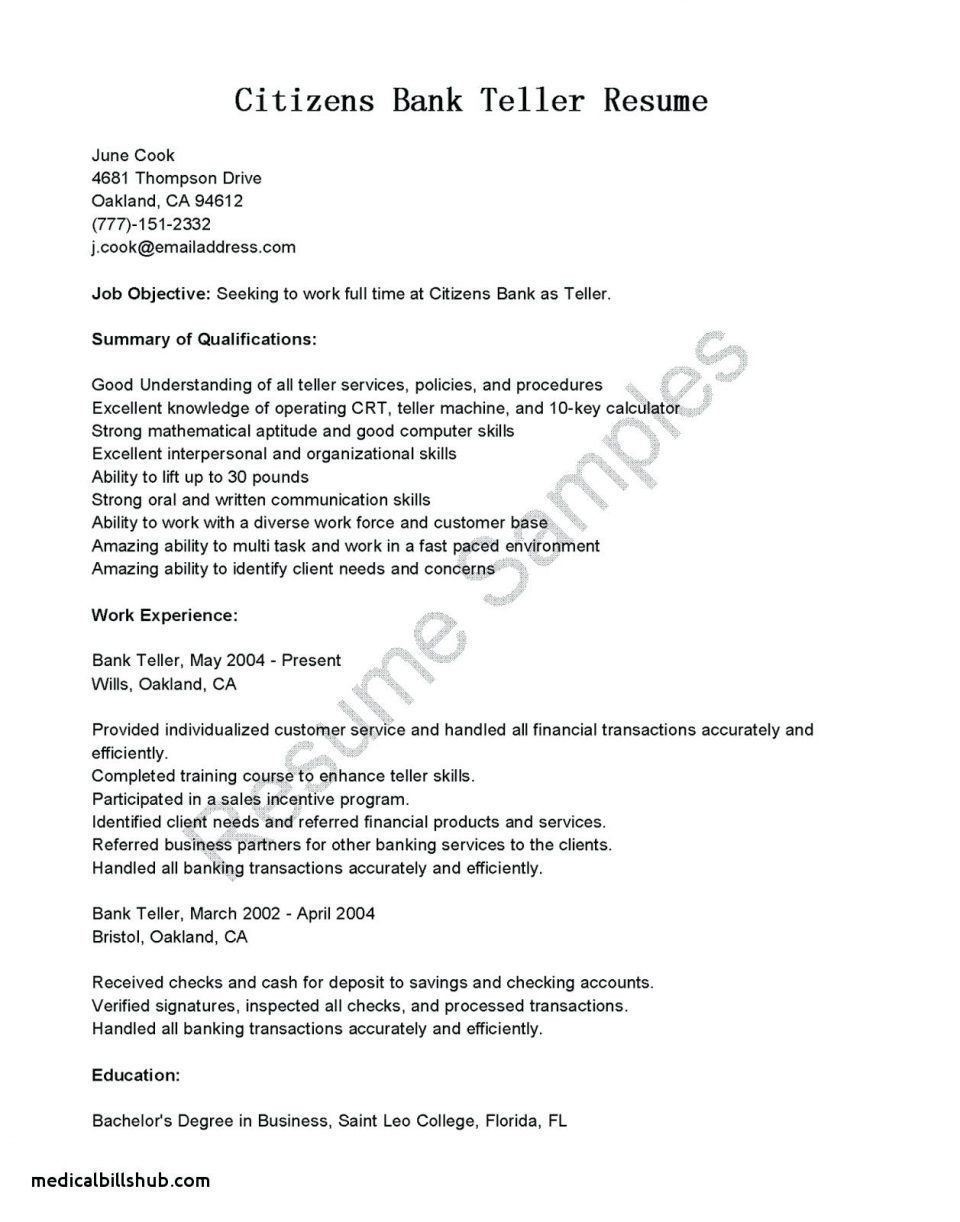 Bank Teller Resume No Experience Retail Cover Letter with