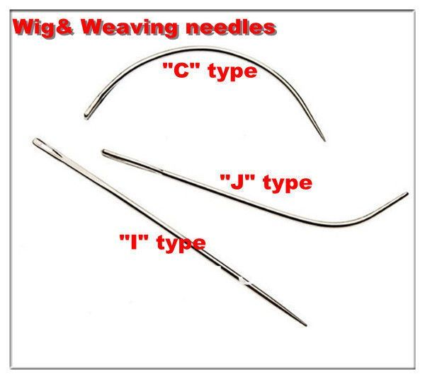 6cm Weaving Needle C Curved L I Shaped Lace Wig Hair Weave Pins