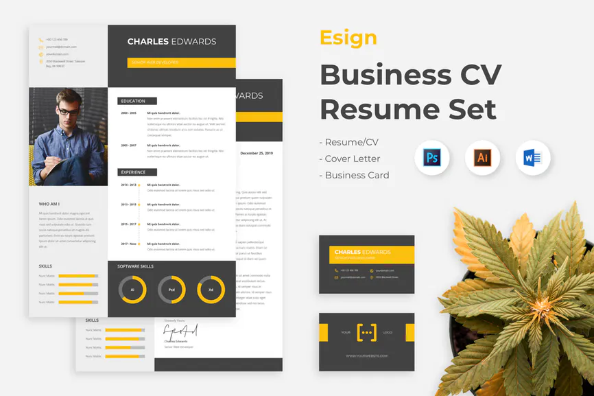 Resume Word by spacestudios on Envato Elements in 2020