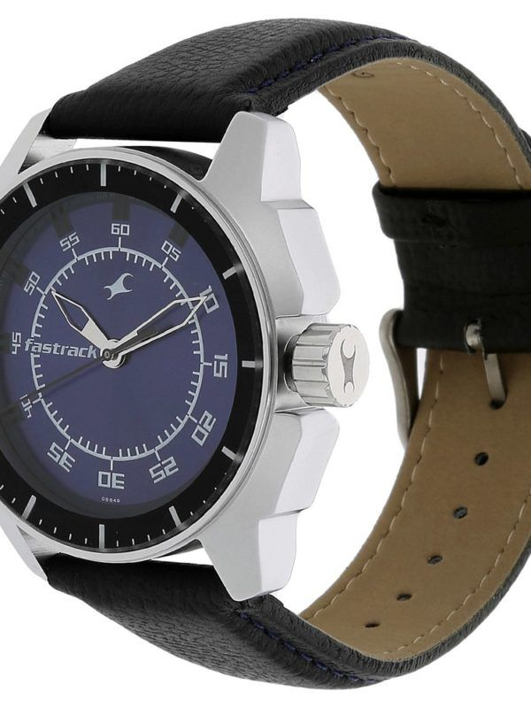 """a9afeb0ee4 #FASTRACK #BLUE #DIAL #LEATHER #STRAP #ANALOG #WATCH FOR #MEN NG3089SL01C -  """"This analog watch for men has a round, blue dial featuring plain three  hands, ..."""