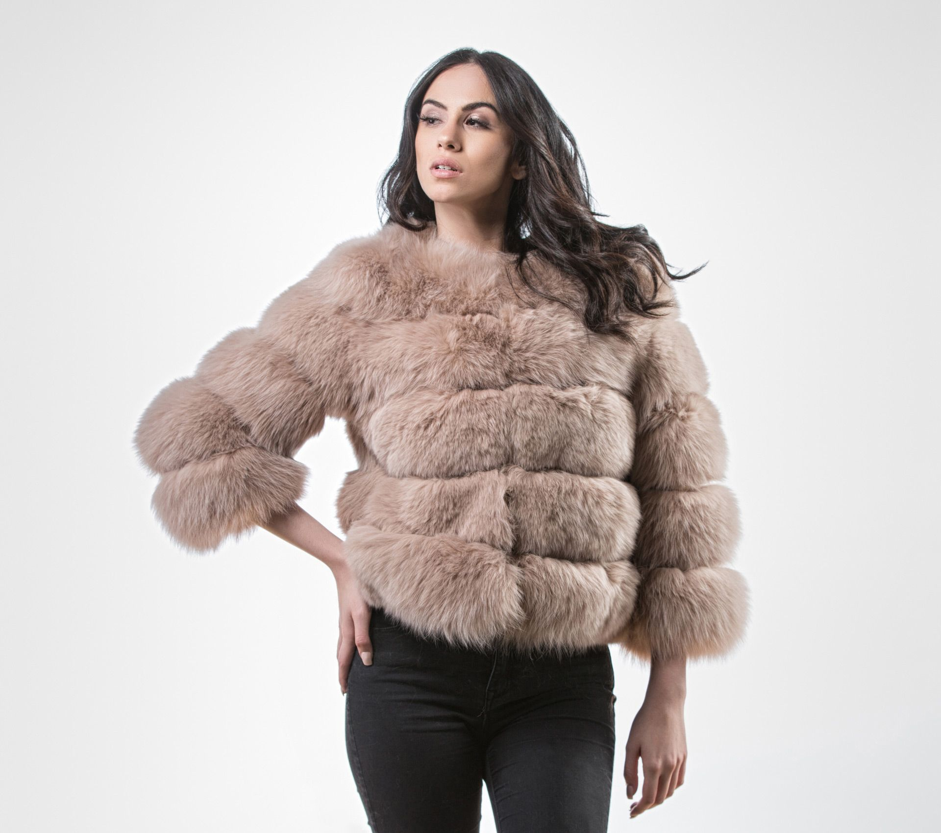 185cc5fa2 Beige Fox Jacket With 3/4 Sleeves #beige #fox #fur #jacket #real #style # realfur #naturalfur #elegant #haute #luxury#chic #outfit #women #classy  #online # ...