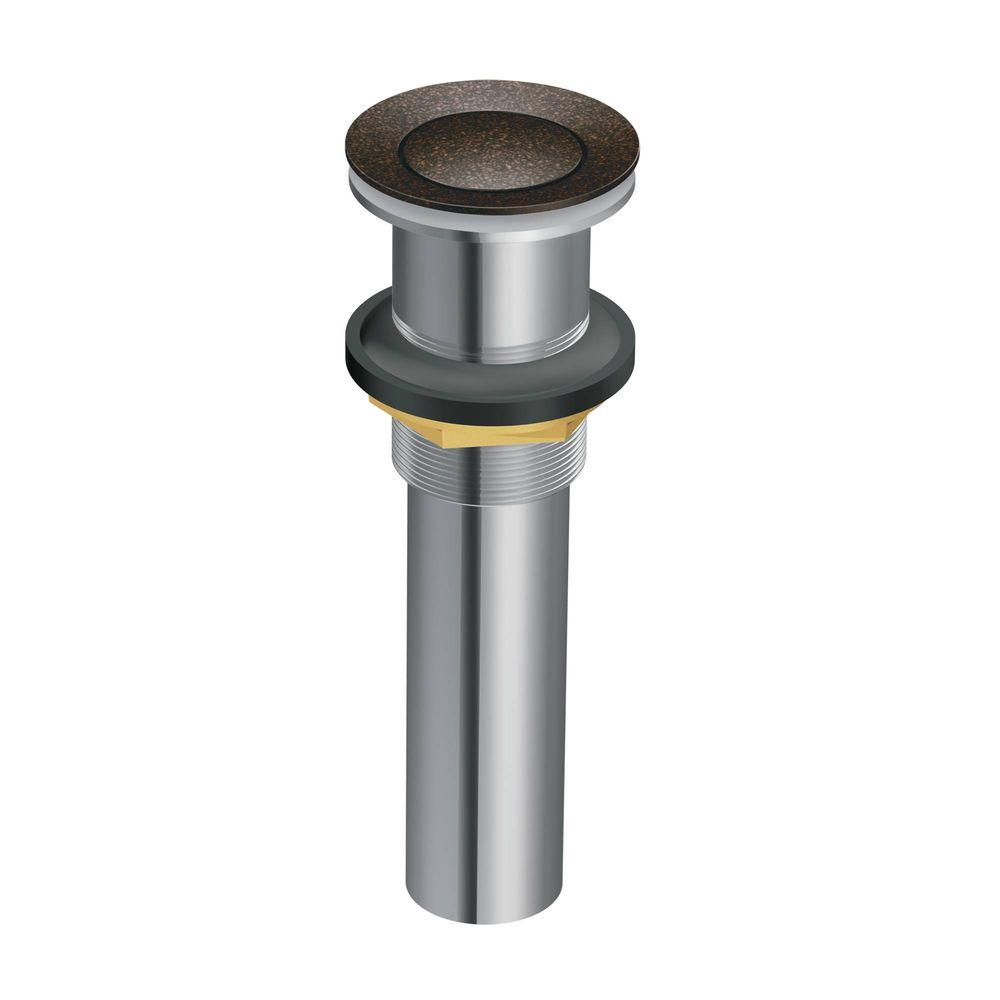 Lavatory Pop Up Drain Assembly Without Overflow In Oil Rubbed Bronze 140780orb Bathroom Sink Drain Sink Drain Moen