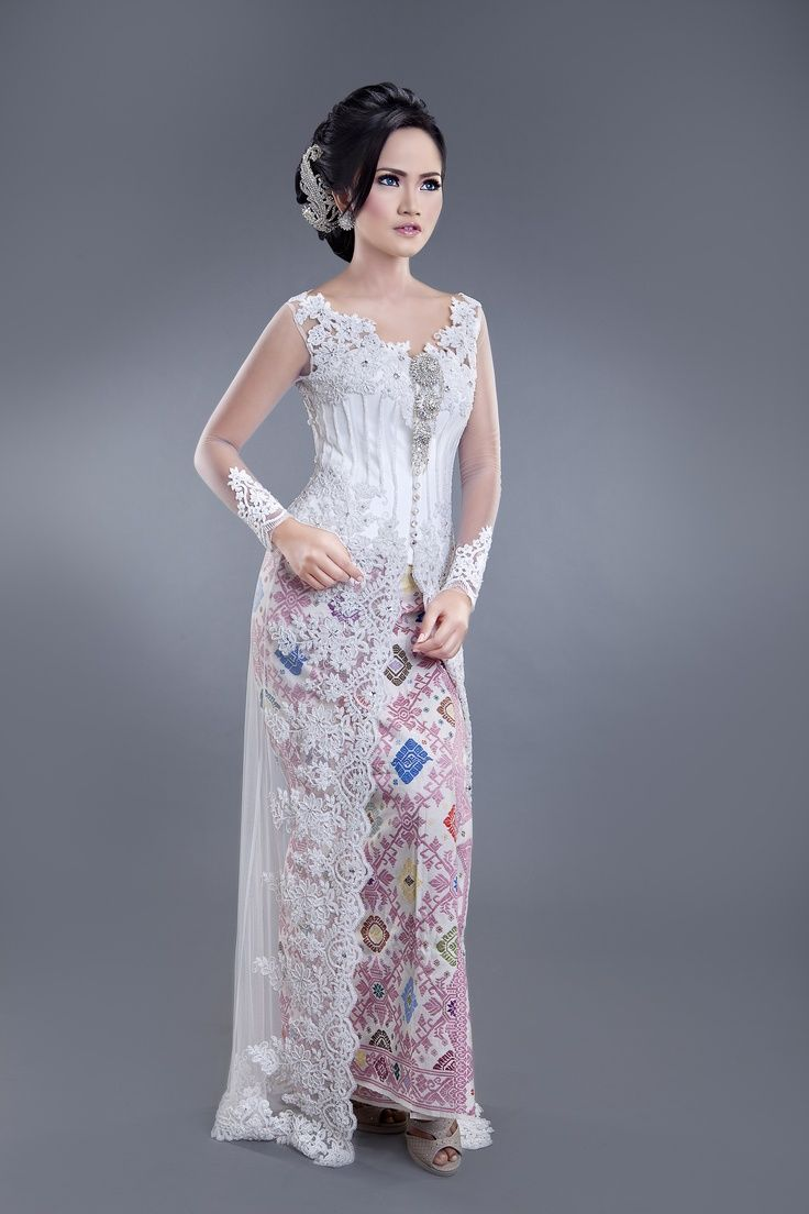 Wedding Kebaya - Model Kebaya Modern Pernikahan Brokat Putih