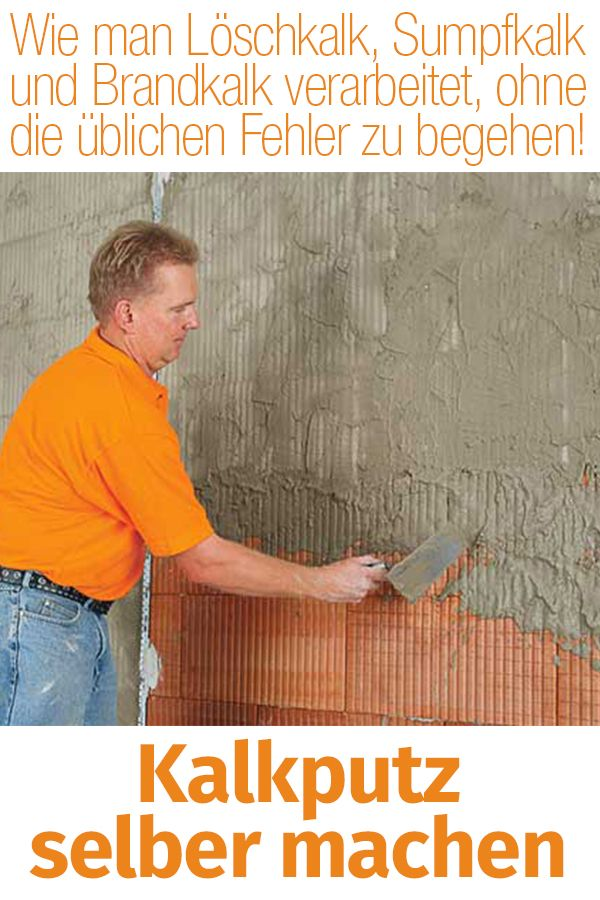 Photo of Make lime plaster yourself