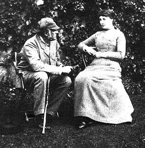 Photograph of Millais and the Model for Jersey Lily: Lillie Langtry