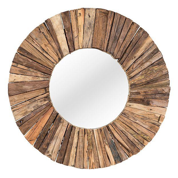 Ronde spiegel TeakMosaic - in verschillende maten | Usi Maison