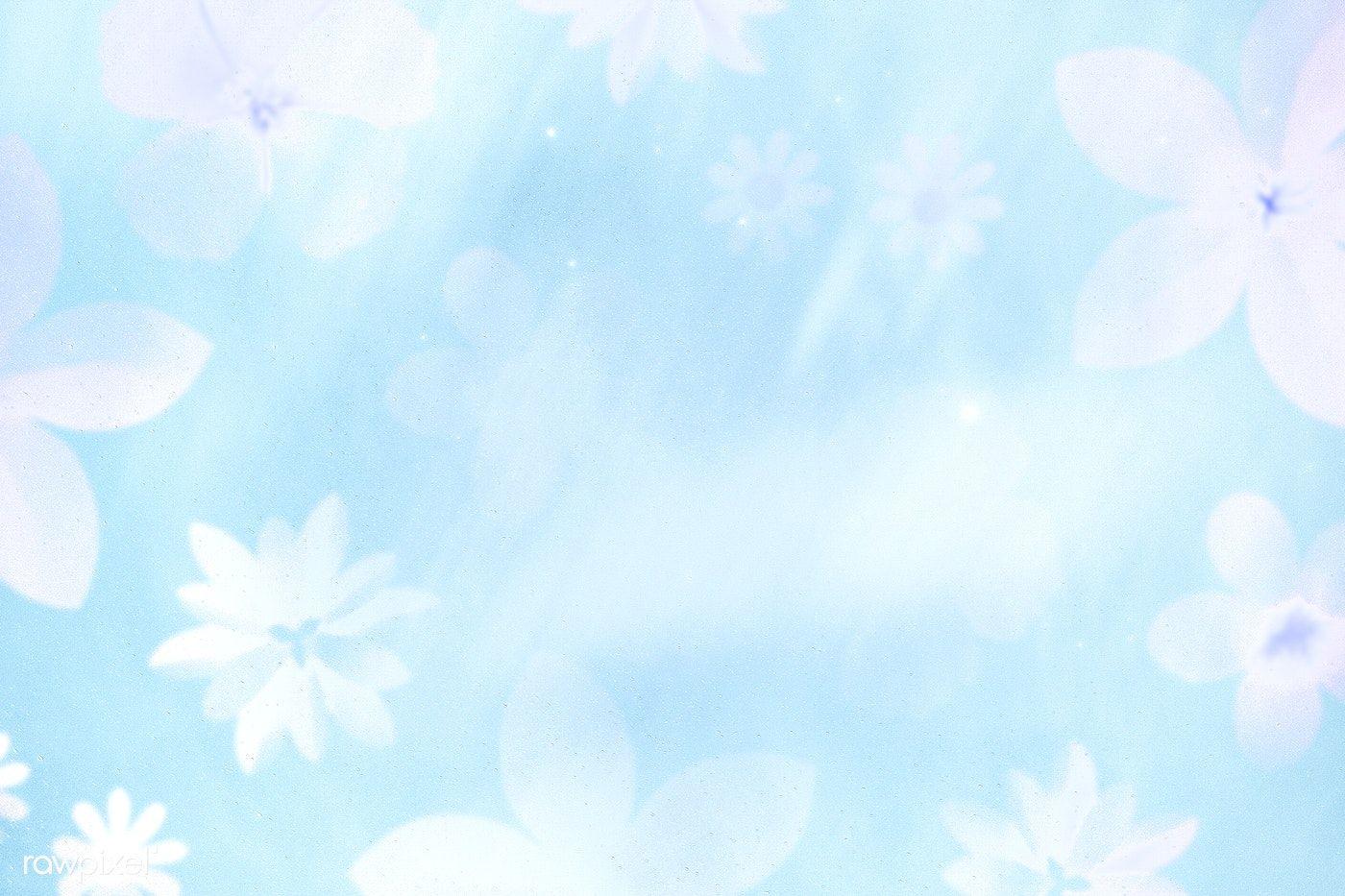 Download Premium Illustration Of Flower Patterned Light Blue Background Blue Background Wallpapers Blue Backgrounds Light Blue Background