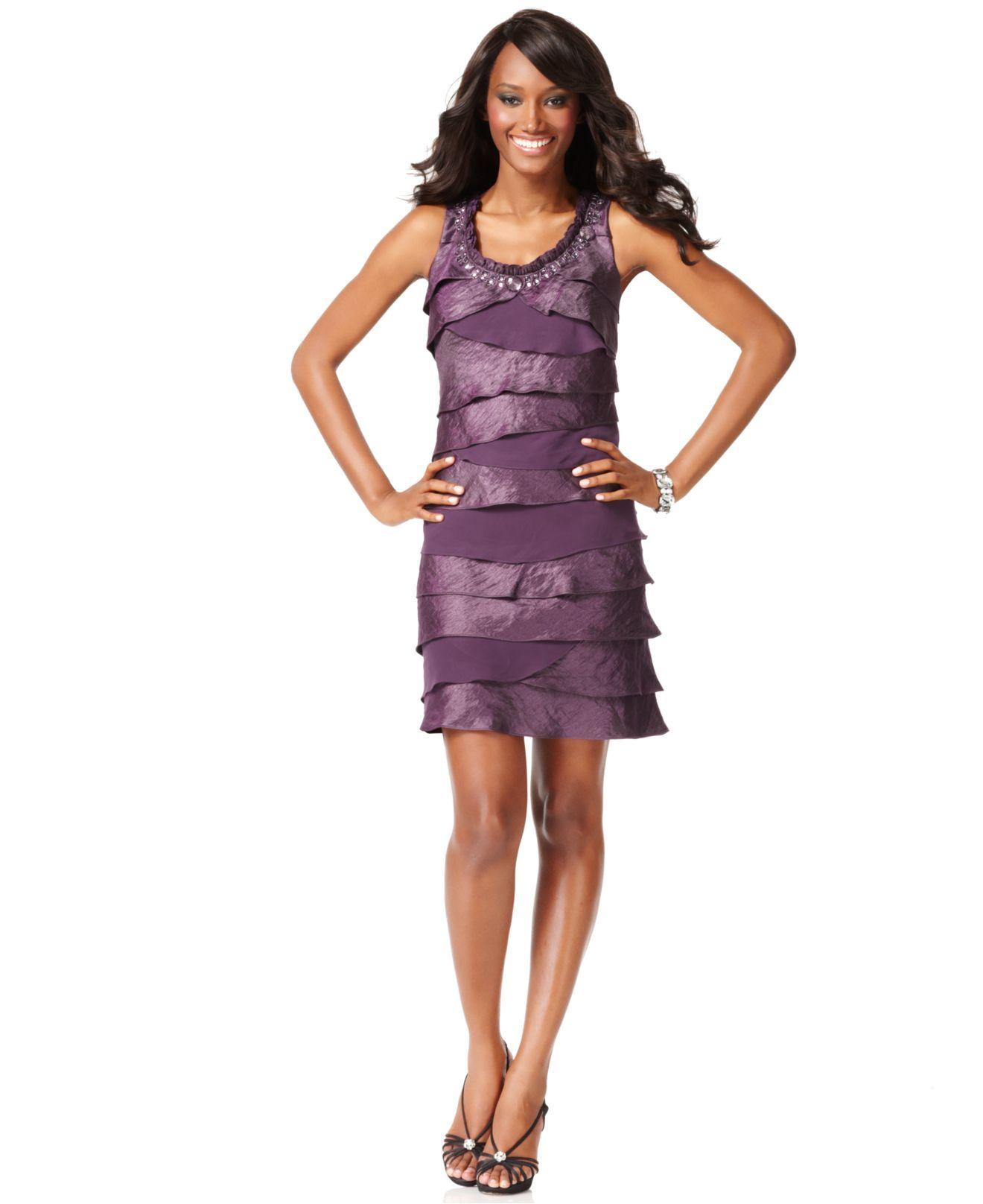 Sl sl fashion dresses - Sl Fashions Dress Sleeveless Asymmetrical Pleated Cocktail Dress Womens Wedding Dresses
