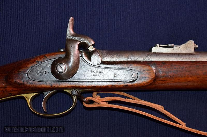 Tower Enfield Pattern 53 Percussion Rifle Musket  577 Cal