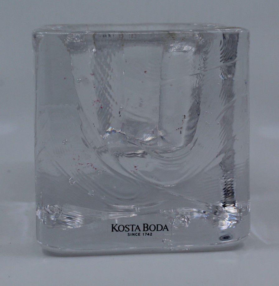 Kosta Boda Cube Square Votivo Tea Light Glass Candle Holder Swedish Scandinavian Glass Candleholders Glass Candle Holders Candle Holders