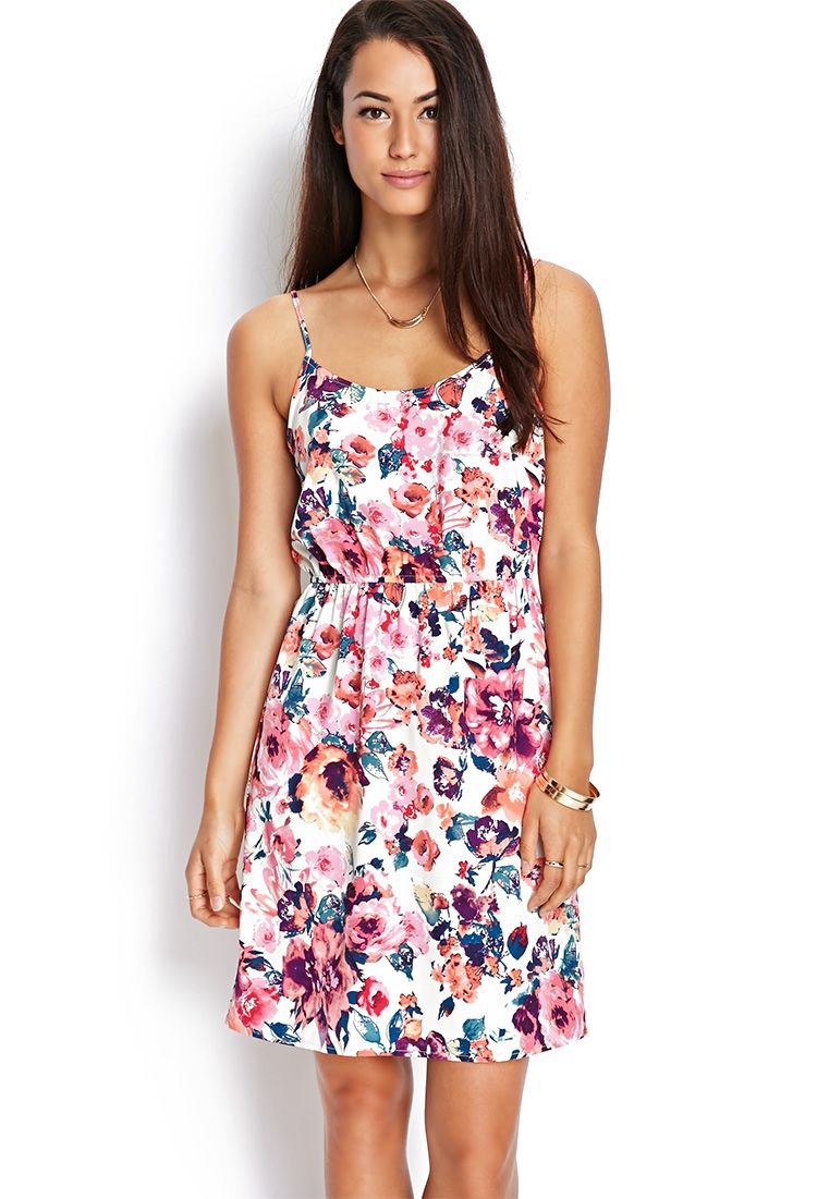 Pink dress forever 21  Floral Cutout Cami Dress  FOREVER    My Style