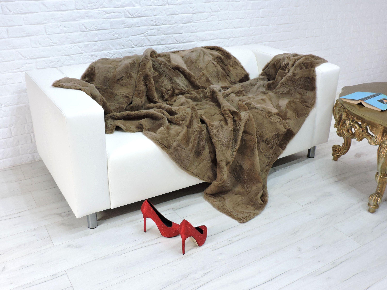 Luxury Lambskin Fur Throw Blanket