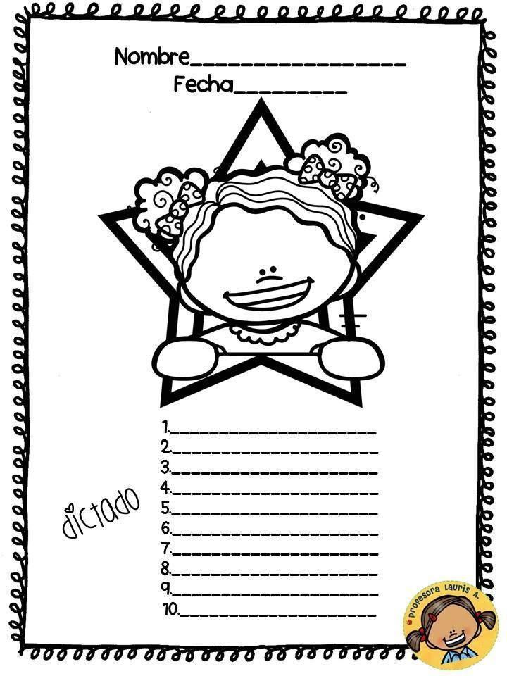 Plantillas para el dictado (10) | Lecto escritura | Pinterest | Kind