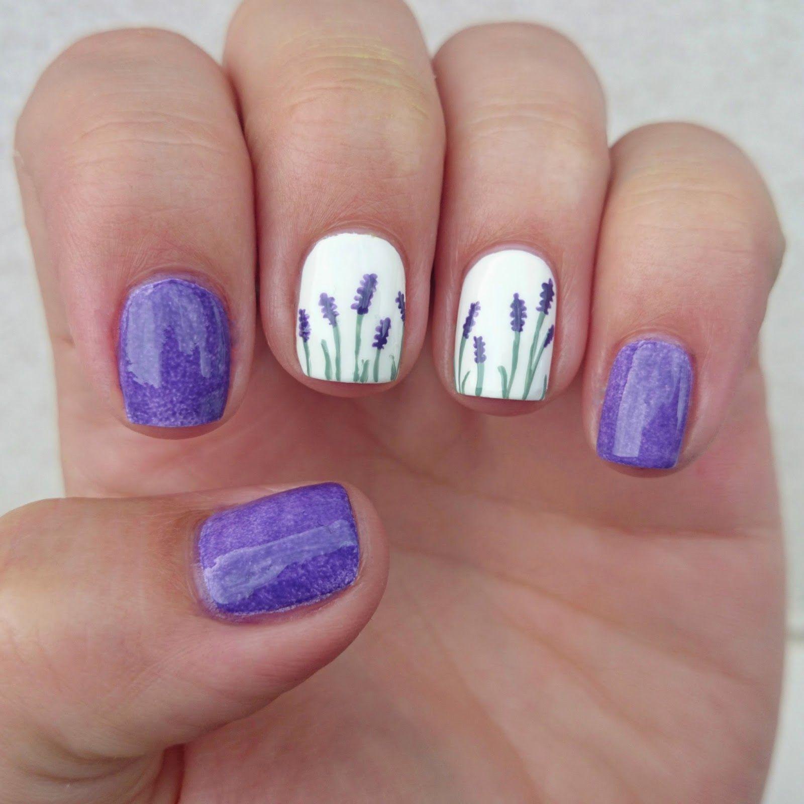 Dahlia Nails Lovely Lavender Lavender Nails Flower Nails Trendy Nails