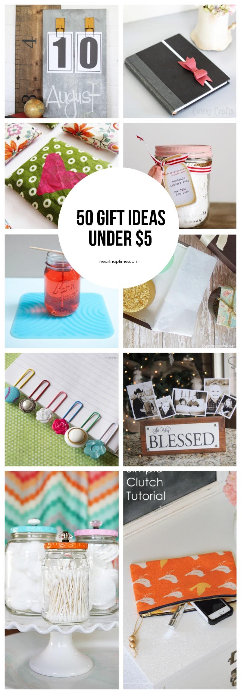 50 homemade gift ideas to make for under $5 featured on ...