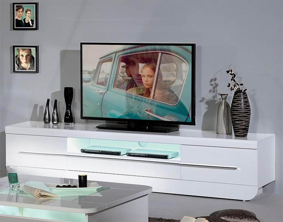 White Tv Media Unit Part - 29: Sciae Floyd Contemporary High Gloss White TV Unit