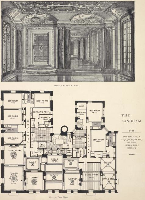 Luxury Apartments New York Developers Began Introducing The Idea Of French Flats To Monied Man Planos De Arquitectura Planos De Apartamentos Planos De Casas