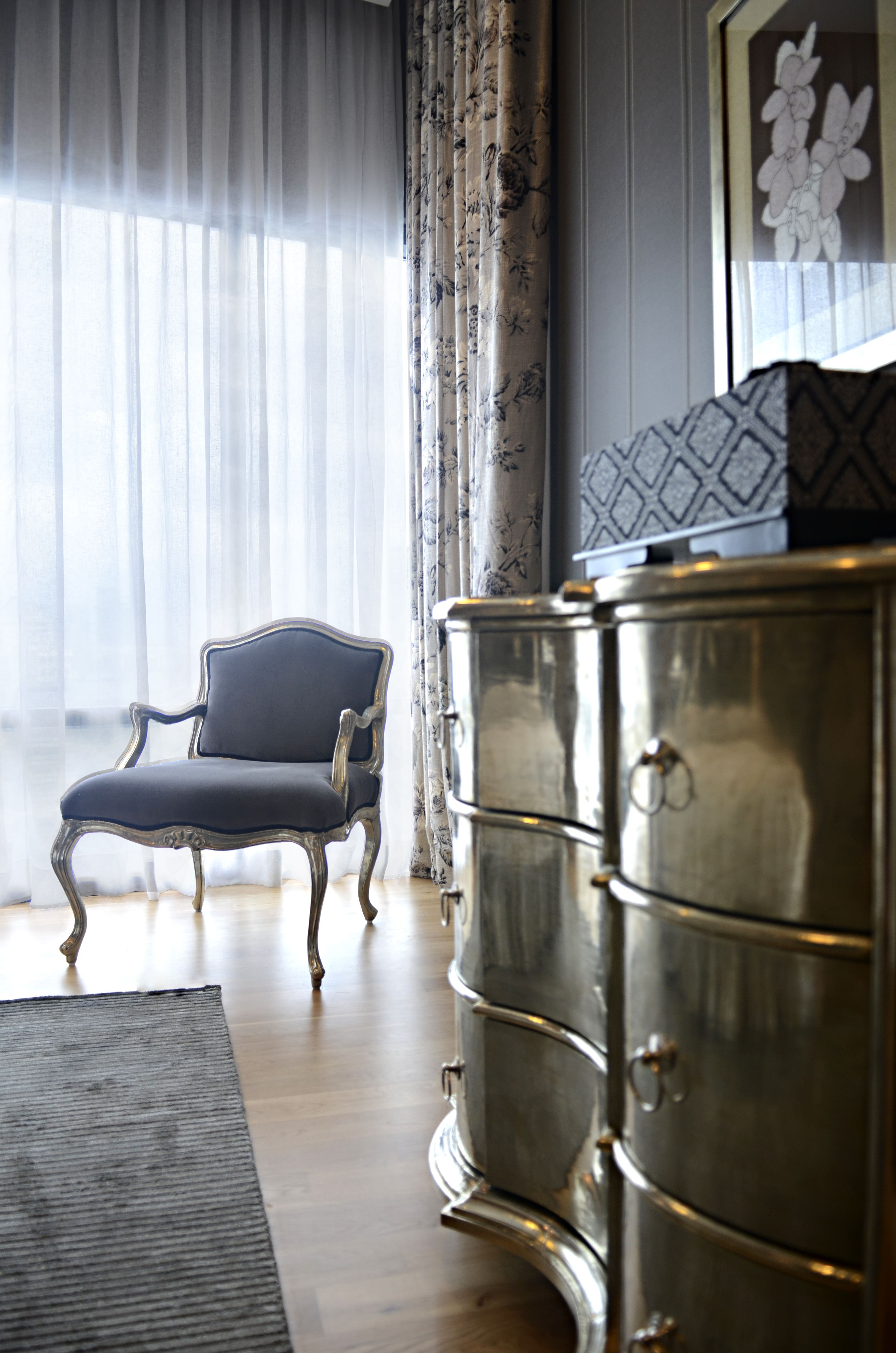 A quiet corner to wind down with a book at one of the rooms in the luxury penthouse unit