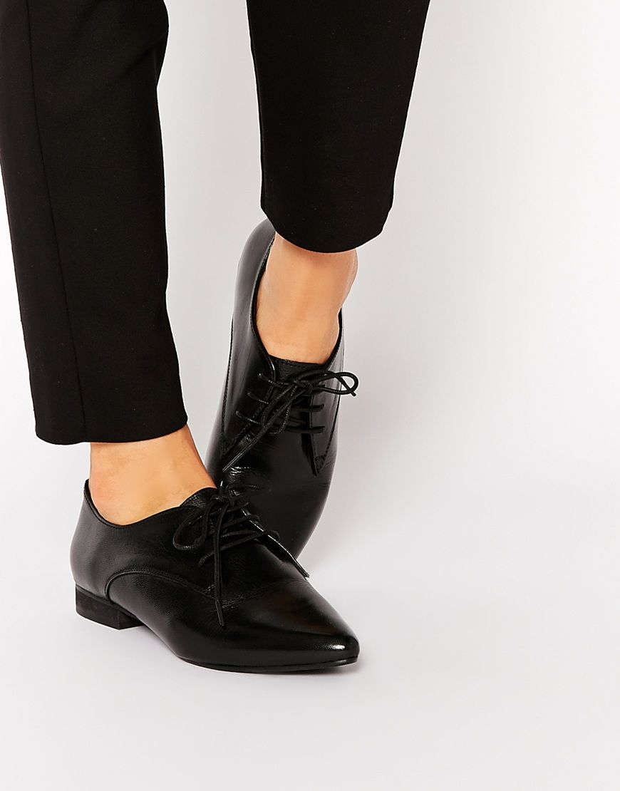 Buy Women Shoes / Asos Mara Leather Pointed Flat Shoes