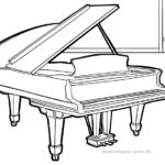 Ausmalbilder Musikinstrumente   Musik - Kostenlose ...