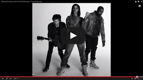 Lirik Fourfiveseconds Rihanna Ft Kanye West Lirik Lagu Kanye West Paul Mccartney Rihanna Rihanna Outfits