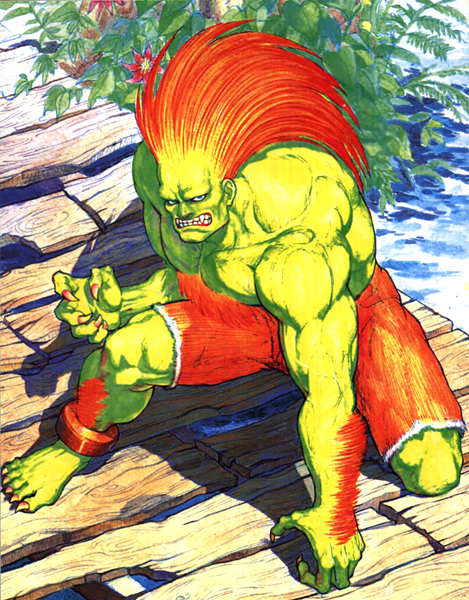 Street Fighter Blanka Icon Png 512 512 Street Fighter Fighter Artwork