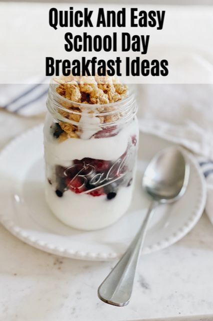 Quick And Easy School Day Breakfast Ideas - She Gave It A Go