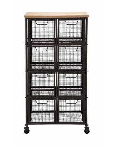 wooden top roller metal cabinet with mesh eight storage drawers rh pinterest ca