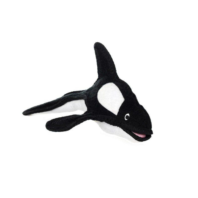 Tuffy Durable Dog Toy Ocean Creature Killer Whale - T-OC-KILLER-WHALE