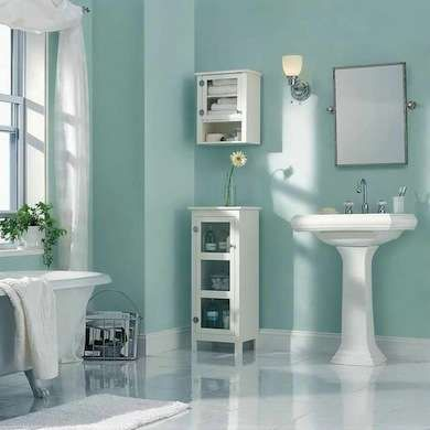 18 Bathroom Updates You Can Do In A Day Small Bathroom Paint Bathroom Wall Colors Popular Bathroom Colors Latest style bathroom paint color